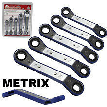 Box Wrench 5pc Offset Ratchet Set MM Automotive Ratcheting Wrenches Auto Tools
