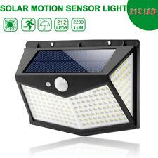 212 LED Solar Powered PIR Motion Sensor Light Garden Outdoor Security Lights