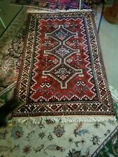 Hand-made Vintage Oriental Carpet, appx 3' X 5'. Persian Style . Geometric.