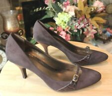 Ann Taylor Loft Women's Brown Suede Pumps Shoes Size 8 M