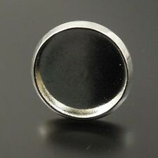 52pcs Rhodium Plated Iron Earring Stud Cameo Setting Inner Size 12*12mm 33462