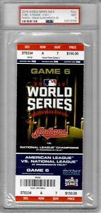 2016 World Series Ticket Stub GAME 6 - November 1 - Cubs vs Indians - PSA 9+++