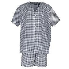 New Fruit of the Loom Men's Big and Tall Short Sleeve Short Leg Pajama Set