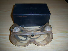 Metal WILLSON BOX CASE With Motorcycle / Safety Goggles - Vintage