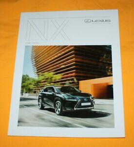 Lexus NX 2018 Prospekt Brochure Depliant Catalog Folder Prospetto Broschyr