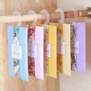 Real EFFECT Hanging Scented Wardrobe Clothes Freshener Sachet Perfume AC Car