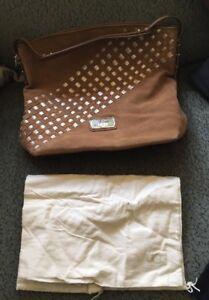 UGG Kayte Woven Hobo Chestnut Suede Handbag NEW