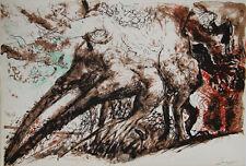 """""""Le grand chêne G. BRASSENS"""" Lithographie signée Pierre PARSUS"""
