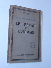 Le Travail et l'homme 1937 livre philosophie ILES Étienne BORNE François HENRY