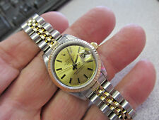 Model 69173 Quick Set Sapphire Make Offer Lovely Rolex Watch 18k & Ss DateJust
