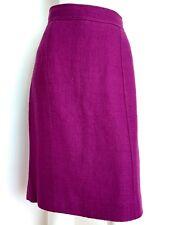 HOBBS textured linen blend skirt size 14  knee length purple