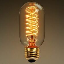 Vintage Squirrel Cage Industrial Filament Antique Style Edison Light Bulbs