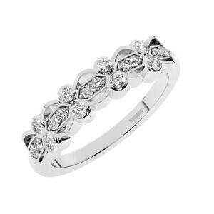 5 MM Pave Set Round brilliant Cut Diamonds Half Eternity Ring in 950 Platinum