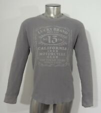 Lucky Brand California Motorcycle Club men's thermal knit wear t-shirt gray L