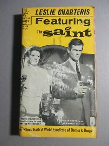 The Saint PB - Featuring the Saint - Roger More TV Cover-  Doubleday Inc.