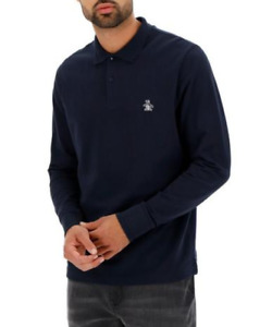 Original Penguin Polo Shirt Mens Pique Long-Sleeve Polo Shirt - New