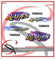 Yamaha Blaster Decals Reproduction Full Set Replica Design 1992 Model White