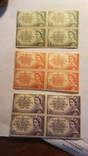 Australia stamps 3 blocks of four 1953 Coronation MNH