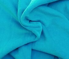 Turquoise Cotton Velvet Velour French Terry Knit Fabric by Yard 9/15 (European)
