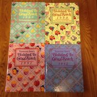 Lot of 4 Hardcover Books By Vanessa-Ann Holidays Christmas In Cross-Stitch