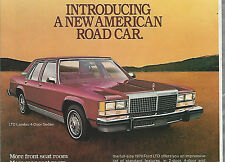 1979 Ford LTD advertisement, FORD LTD Sedan and Coupe, Landau models
