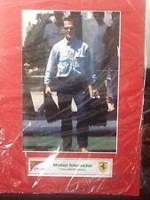 Michael Schumacher F1 pantalla 7 veces campeón de la foto Ferrari A3 no firmado