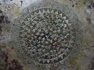 Antique Islamic Malaysia Reposse Silver Bowl Extremely Old Handmade Beautiful