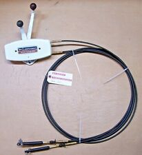 New listing Rebuilt Johnson Ship-Master Evinrude Two 2 Handle Control Box, New 13' Cables