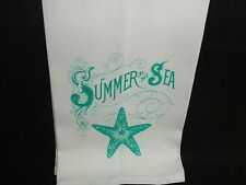 Towel Huck Cotton Waffle Weave Starfish Summer by the Sea