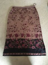 Monsoon Size 10 100% Silk Skirt