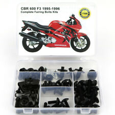 Motorcycle Fairing Cowling Bolts Screws Kit For Honda CBR600 F3 1995 1996 Black