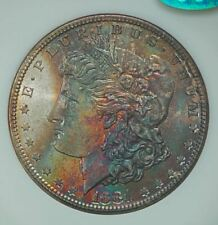 1881-S Morgan Silver Dollar NGC MS66 CAC Old Fatty Holder OH OGH Rainbow Toning