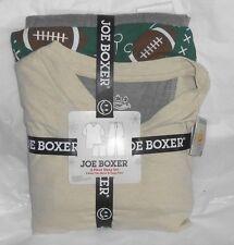 JOE BOXER MENS JERSEY PAJAMAS PJS TAN TOP   FOOTBALL GRAY CARGO PANTS MEDIUM+