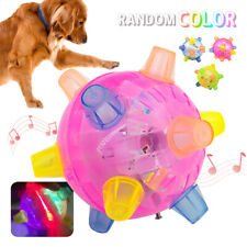 FLASHING Pet Dog Bounce Ball for Games Light-Up LED Jumping Joggle Chew Toys Kid