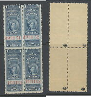 MNH $1 Queen Victoria Gas Inspection Block of 4 #FG22 (Lot #RR120)