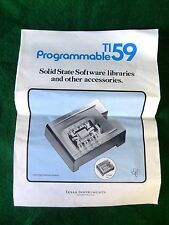 TEXAS INSTRUMENTS Programmable TI-59 Software Libraries & Accessories ORDER FORM