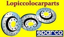 Coppia Dischi Freno Sportivi Anteriori Ventilati SPARCO 038003A Baffati e Forati