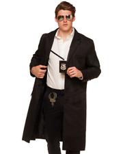 POLICE DETECTIVE BLACK JACKET HALLOWEEN COSTUME GLASSES BADGE HOLSTER MUSTACHE