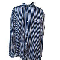 Alex Cannon Mens Large Dress Shirt Button Down Long Sleeve