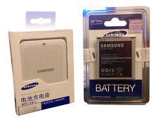 ORIGINALE Samsung Galaxy S4 i9500 i9505 RICAMBIO BATTERIA CARICABATTERIE USB KIT-Bianco