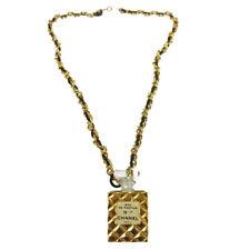 CHANEL Vintage CC Logos Gold Chain Perfume Pendant Necklace Authentic AK35585k