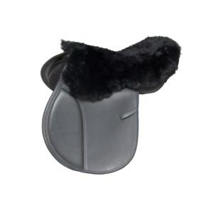 Lammfell Englisch Sattel Sitzbezug schwarz, Seat Cover, Naturfell ! Unbenutzt !