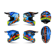 CASCO AIROH TWIST GREAT BLUE MATT MOTO CROSS ENDURO OFFROAD TAGLIA XL
