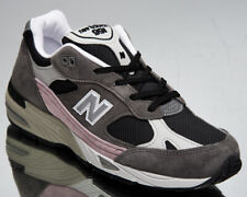 New Balance 991 Made In England Women's Black Grey Pink Lifestyle Sneakers Shoes