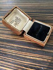 Antique Tooled Leather Ring Box Faux Leather Light Aged Wear John Morton Dublin