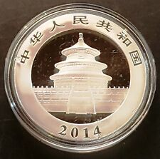 2014 Chinese Panda 1 oz 999 Fine Silver Coin - Mint Condition in Capsule