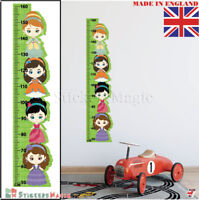Princess Height Chart Wall Stickers Growth Kids Girls Bedroom Decor Vinyl Decal