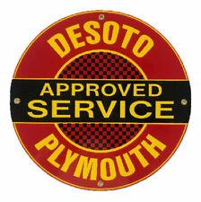 Desoto Service Porcelain Advertising Sign