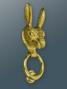 Brass Bee Door Knocker - Brass Finish - Solid Brass Hare Door Knocker
