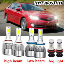 For Toyota Camry 2007-2014 LED Headlight Fog Light Bulbs  6x Car Led Lights Kit